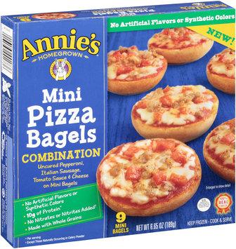 Annie's® Homegrown Combination Mini Pizza Bagels