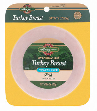 Haggen Sliced Oven Roasted 97% Fat Free Turkey Breast 6 Oz Peg