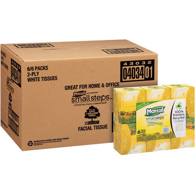 Marcal® Small Steps® Facial Tissue 6 pk Boxes