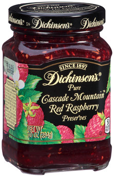 Dickinson's® Pure Cascade Mountain™ Red Raspberry Preserves 10 oz. Jar