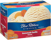 Blue Ribbon Classics® Homemade Vanilla Flavored Light Ice Cream 1.75 qt. Carton