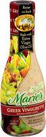 Marie's® Greek Vinaigrette with Feta Cheese & Garlic Dressing and Marinade 11.5 fl. oz. Glass Bottle