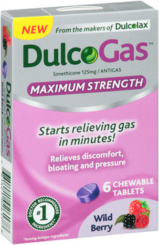 Dulcolax® DulcoGas™ Maximum Strength Wild Berry Antigas Chewable Tablets 125mg 6 ct Box