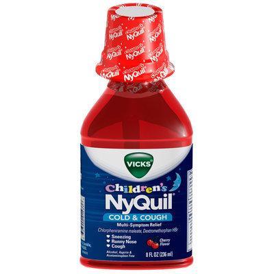 Vicks® Children's NyQuil® Cherry Multi-Symptom Cold & Cough Relief 8 fl. oz. Plastic Bottle