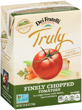 Dei Fratelli Truly™ Finely Chopped Tomatoes in a Light Puree with Onion, Carrot & Celery 26.46 oz. Carton