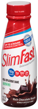 SlimFast® Balanced Nutrition Rich Chocolate Royale Meal Replacement Shake 11 fl. oz. Bottle
