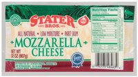Stater Bros. All Natural Low Moisture Part Skim Mozzarella Cheese 32 Oz Wrapper