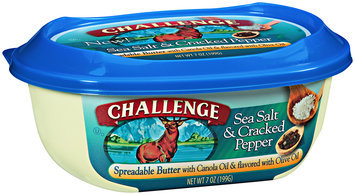 Challenge Sea Salt & Cracked Pepper Spreadable Butter 7 oz. Tub