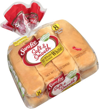 Sara Lee® Soft & Smooth® Made with Whole Grain White Hot Dog Buns 8 ct Bag
