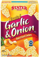 Stater Bros. Roasted Garlic & Onion Baked Snack Crackers 8 Oz Box