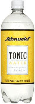 Schnucks Low Sodium W/Quinine Tonic Water 33.8 Fl Oz Plastic Bottle