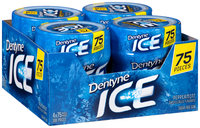 Dentyne Ice Peppermint Sugar Free Gum 4-75 Piece Bottles