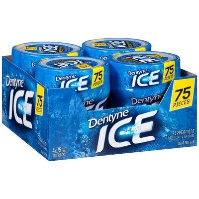 Dentyne Ice Peppermint Sugar Free Gum 4-75 Piece Bottles