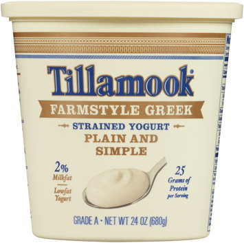 Tillamook® Plain and Simple Farmstyle Greek Strained Lowfat Yogurt 24 oz. Tub