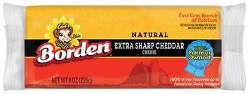 Borden Natural Extra Sharp Cheddar Cheese 8 Oz Chunk