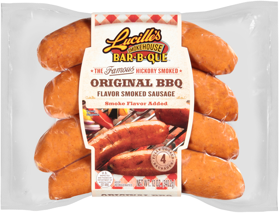 Lucille's Smokehouse Bar-B-Que™ Original BBQ Smoked Sausage 4 ct Pack