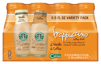 Starbucks® Frappuccino® Coffee Drink Variety Pack 12 Pack 9.5 fl. oz. Glass Bottles