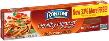 Ronzoni® Healthy Harvest® 100% Whole Grain Thin Spaghetti 16 oz. Box
