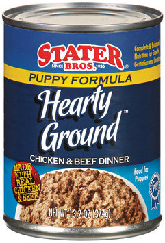 Stater Bros. Puppy Formula Hearty Ground Chicken & Beef Dinner Dog Food 13.2 Oz Can