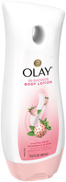 Olay Cooling White Strawberry and Mint In-Shower Body Lotion 15.2 Oz