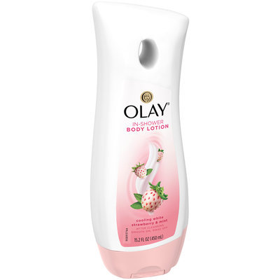 Olay Cooling White Strawberry and Mint In-Shower Body Lotion