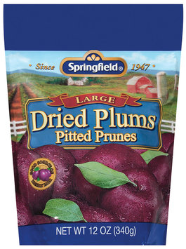 Springfield Large Pitted Prunes Dried Plums 12 Oz Bag