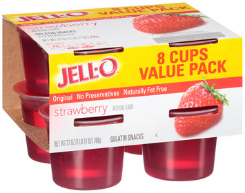 Jell-O Strawberry Gelatin Snacks 8 ct Cups