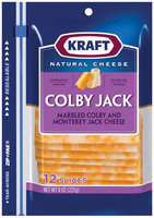 Kraft Colby Jack Cheese Slices 12 Ct