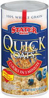 Stater Bros. Quick Oats Oatmeal 18 Oz Canister