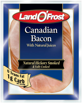 Land O' Frost Canadian Bacon Natural Hickory Smoked Canadian Bacon 6 Oz Peg
