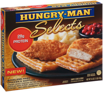 Hungry-Man® Selects Boneless Fried Chicken & Waffles 16 oz. Box