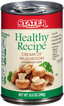 Stater Bros.® Healthy Recipe Cream of Mushroom Condensed Soup 10.5 oz. Can