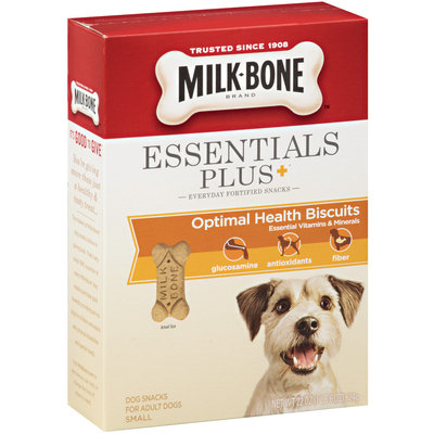 Milk-Bone Essentials Plus+ Optimal Health Dog Biscuits - Small, 22-Ounce (Pack of 4)