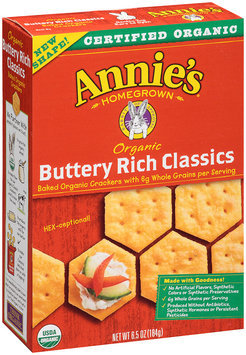 Annie's Homegrown® Organic Buttery Rich Classics Crackers 6.5 oz. Box