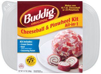 Carl Buddig All-In-1 Cheeseball & Pinwheel Kit 10.7 Oz Plastic Tub