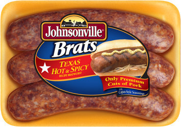 Johnsonville Texas Hot & Spicy 7 inch Brat 19oz tray (102578)