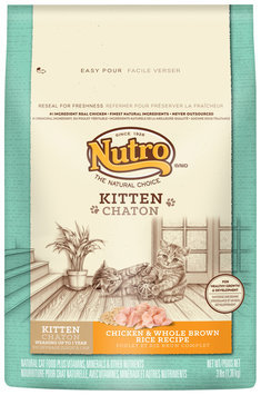 Nutro® Kitten Chicken & Whole Brown Rice Recipe Cat Food 3 lb. Bag