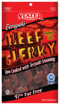 Stater Bros. Teriyaki 97% Fat Free Beef Jerky 3.65 Oz Peg