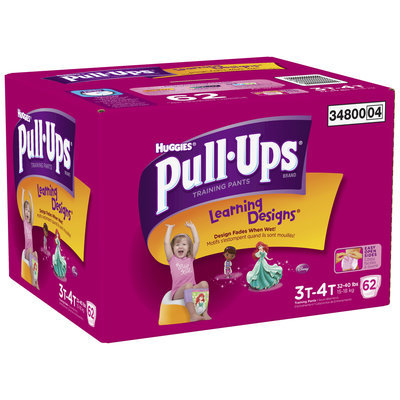 Huggies® Pull-Ups® Training Pants with Learning Designs® for Girls 3T-4T 62 ct Box