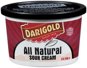 Darigold All Natural Sour Cream 16 Oz Plastic Tub
