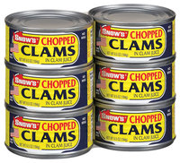 Snow's Chopped In Clam Juice 6 Ct Clams 6.5 Oz Cans