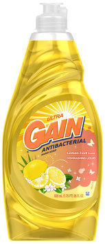 Gain® Ultra Antibacterial Lemon Zest Dishwashing Liquid 28 fl. oz. Plastic Bottle
