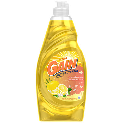 Gain® Ultra Antibacterial Lemon Zest Dishwashing Liquid 28 fl. oz. Plastic Bottle