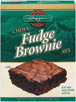 Haggen Chewy Fudge Brownie Mix 19.8 Oz Box