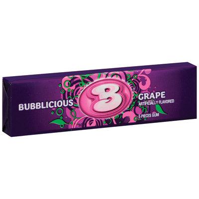 Bubblicious 5 Piece Packs Grape Bubble Gum