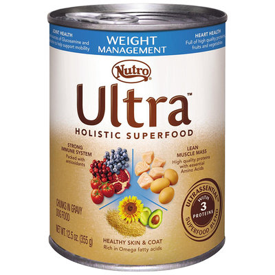 Nutro® Ultra™ Weight Management Chunks in Gravy Dog Food 12.5 oz. Can