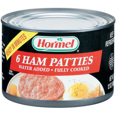 HORMEL Patties Fully Cooked 6 Ct Ham 12 OZ CAN
