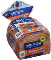 Cobblestone Bread Co.™ Complete Wheat 100% Whole Wheat Bread 18 oz. Bag