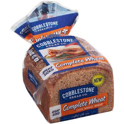 Cobblestone Bread Co.™ Complete Wheat 100% Whole Wheat Bread 18 oz. Bag