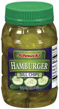 Schnucks Hamburger Dill Chips 16 Oz Plastic Jar